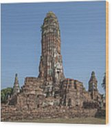Wat Phra Ram Great Central Prang Complex Dtha0157 Wood Print
