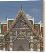 Wat Phrasri Mahathat Ubosot Gable Dthb1465 Wood Print