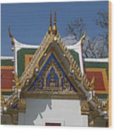 Wat Phrasri Mahathat Ubosot North Wing Gable Dthb1469 Wood Print
