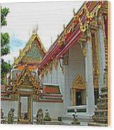 Wat Po In Bangkok-thailand Wood Print