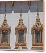 Wat Sapum Thammaram Ubosot Windows Dthp227 Wood Print