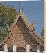 Wat Sri Don Chai Phra Ubosot Gable Dthcm0095 Wood Print