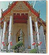 Wat Suthat In Bangkok-thailand Wood Print