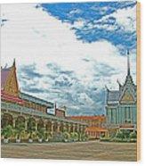 Wat Tha Sung Temple In Uthaithani-thailand Wood Print