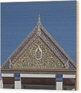 Wat Thewasunthon Preaching Hall Gable Dthb1423 Wood Print