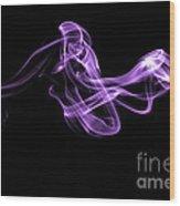 Watch The Flow - Purple Wood Print