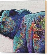 Watchful Eyes - Grizzly Bear Wood Print by Joe  Triano