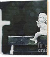 Watching Over Them Wood Print by Trish Mistric