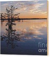 Watching The Sunset At Ba Steinhagen Lake Martin Dies Jr. State Park - Jasper East Texas Wood Print