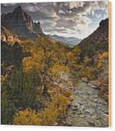 Watchman Sunset Wood Print by Joseph Rossbach