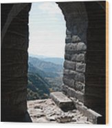 Watchtower Window View From The Great Wall 637 Wood Print