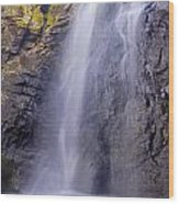Watefall At The Mountains Wood Print