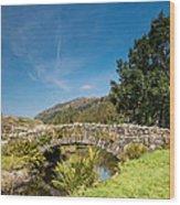 Watendlath Stone Footbridge Vertical Wood Print