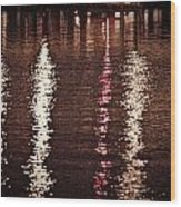 Water And Light Wood Print