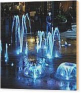 Water And Ligths Wood Print