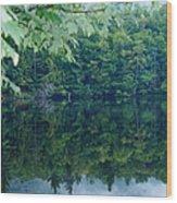 Water At Peace Wood Print