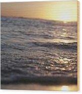 Water At Sunset Wood Print