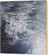 Water Behind A Ship Wood Print