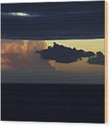 Water Below Clouds Above Wood Print