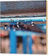 Water Blue  Wood Print