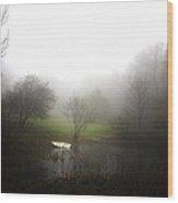 Water Boat Pond Wood Print