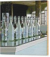Water Bottles Wood Print