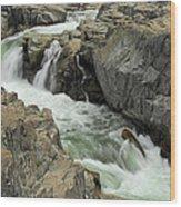 Water Canyon Wood Print