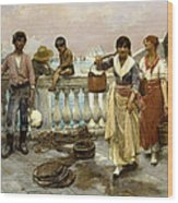 Water Carriers. Venice Wood Print