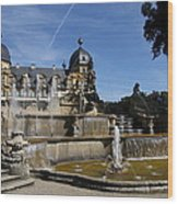 Water Cascade Palace Seehof Wood Print
