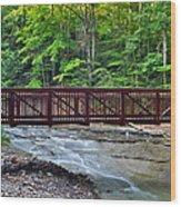 Water Cascade Wood Print