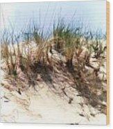 Water Color Sketch  Beach Dune Wood Print