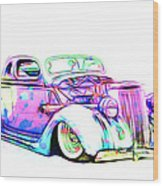 Water Colors 36 Ford Wood Print