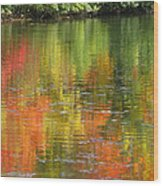 Water Colors Wood Print