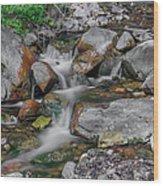 Water Coloured Rocks Wood Print