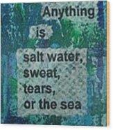 Water Cure - 1 Wood Print