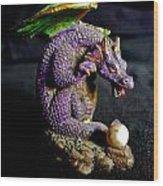 Water Dragon Wood Print