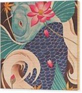 Water Dragon Wood Print by Robert Hooper