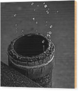 Water Dripping Up The Spout Wood Print
