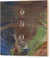 Water Drop Abstract 5 Wood Print