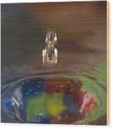 Water Drop Abstract 7 Wood Print
