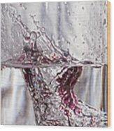 Water Drops Abstract  Wood Print