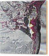 Water Drops Abstract4 Wood Print