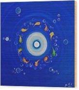 Water Eye Wood Print