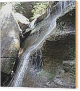 Water Fall In Hocking Hills Wood Print