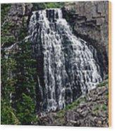 Water Fall  Wood Print