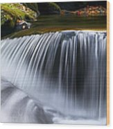 Water Falling Great Smoky Mountains Wood Print by Rich Franco