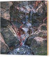 Water Falls Wood Print