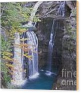 Water Falls Wood Print by Stefano Piccini