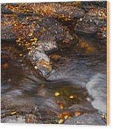 Water Flow Through The Boulders. Eureka. Mauritius Wood Print