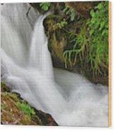 Water Flowing Over Rocks  Hawick Wood Print